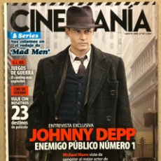Cine: CINEMANIA N° 167 (2009). JOHNNY DEPP, MICHAEL MAN, JOHN DILLINGER, MAD MEN,.... Lote 241945530