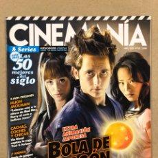 Cinema: CINEMANIA N° 163 (2009). BOLA DE DRAGÓN, HUGH JACKMAN, VIN DIESEL, LAS 50 MEJORES SERIES,.... Lote 241946070