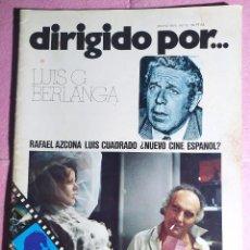 Cine: REVISTA CINE DIRIGIDO POR Nº 13 - LUIS G. BERLANGA - RAFAEL AZCONA - LUIS CUADRADO. Lote 242147385