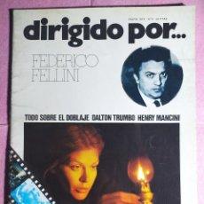 Cine: REVISTA CINE DIRIGIDO POR Nº 9 FEDERICO FELLINI - DALTON TRUMBO - HENRY MANCINI. Lote 242147950