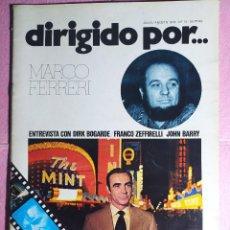 Cine: REVISTA CINE DIRIGIDO POR Nº 15 MARCO FERRERI - DIRK BOGARDE - FRANCO ZEFFIRELLI - JOHN BARRY. Lote 242149380