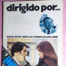 Cine: REVISTA CINE DIRIGIDO POR Nº 10 - JOSEPH L MANKIEWICZ - MARLENE DIETRICH - WOODY ALLEN. Lote 242150325
