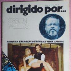 Cine: REVISTA CINE DIRIGIDO POR Nº 12 - ORSON WELLES - BORIS KARLOFF - BURT BACHARACH. Lote 242151560