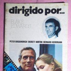 Cine: REVISTA CINE DIRIGIDO POR Nº 11 - BLAKE EDWARDS - PETER BOGDANOVICH - EVERETT HORTON. Lote 242152275
