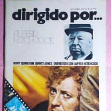Cine: REVISTA CINE DIRIGIDO POR Nº 16 ALFRED HITCHCOCK - ROMY SCHNEIDER - QUINCY JONES. Lote 242153200