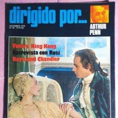 Cine: REVISTA CINE DIRIGIDO POR Nº 39 - ARTHUR PENN - RAYMOND CHANDLER - FRANCESCO ROSI. Lote 242153945