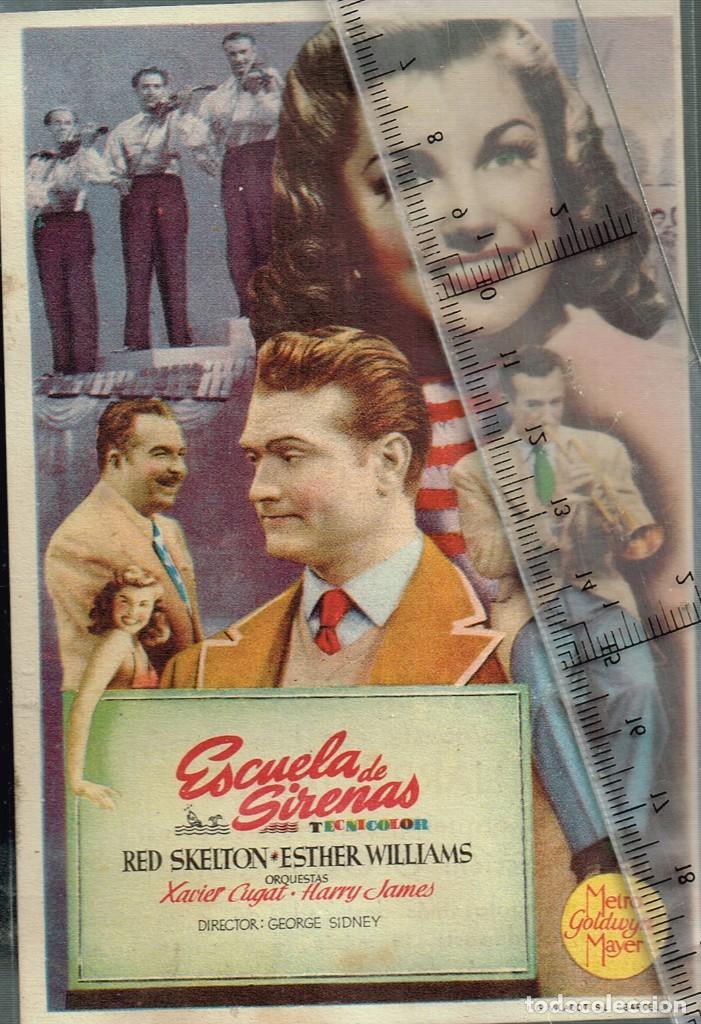 Cine: 1948 ca. ESCUELA DE SIRENAS folleto de mano cine WINDSOR Esther Williams, Red Skelton, Xavier Cugat - Foto 2 - 242823340