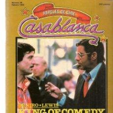Cine: PAPELES DE CINE. CASABLANCA. FASCÍCULO Nº 26. DE NIRO - LEWIS. KIMG OF COMEDY. FEBRER 1983 (ST/MG/B). Lote 243013230