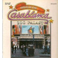 Cine: PAPELES DE CINE. CASABLANCA. FASCÍCULO Nº 28. BERLÍN´83. ABRIL 1983 (ST/MG/B). Lote 243013885