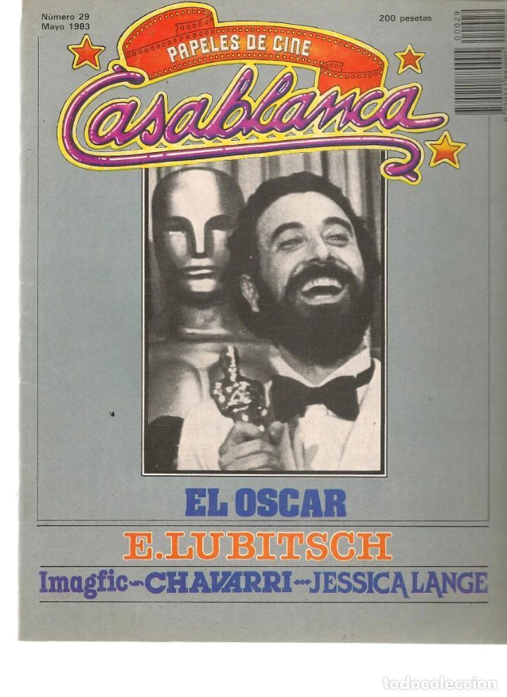 PAPELES DE CINE. CASABLANCA. FASCÍCULO Nº 29. EL OSCAR. E. LUBITSCH. MAYO 1983 (ST/MG/B) (Cine - Revistas - Papeles de cine)