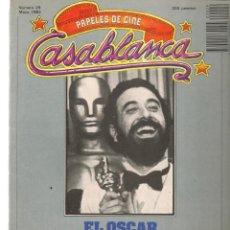 Cine: PAPELES DE CINE. CASABLANCA. FASCÍCULO Nº 29. EL OSCAR. E. LUBITSCH. MAYO 1983 (ST/MG/B). Lote 243014155