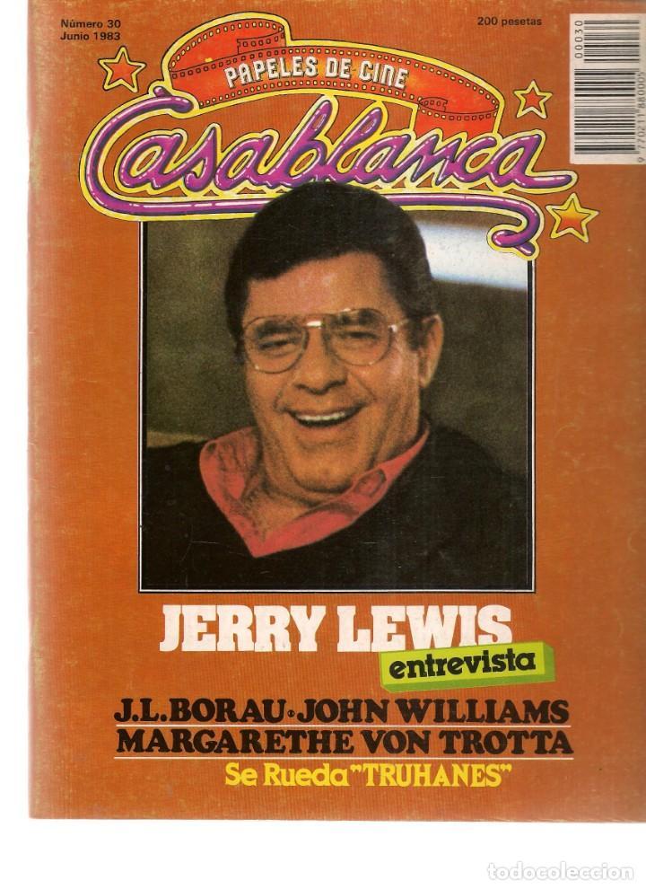 PAPELES DE CINE. CASABLANCA. FASCÍCULO Nº 30. JERRY LEWIS, EXTREVISTA. JUNIO 1983 (ST/MG/B) (Cine - Revistas - Papeles de cine)