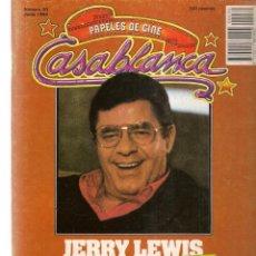 Cine: PAPELES DE CINE. CASABLANCA. FASCÍCULO Nº 30. JERRY LEWIS, EXTREVISTA. JUNIO 1983 (ST/MG/B). Lote 243014395