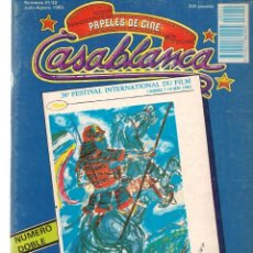 Cine: PAPELES DE CINE. CASABLANCA. FASCÍCULO Nº 31 / 32. TODO CANNES´83. JULIO-AGOSTO 1983 (ST/MG/B). Lote 243014635