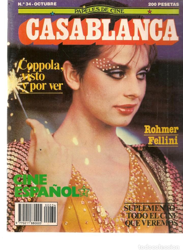 PAPELES DE CINE. CASABLANCA. FASCÍCULO Nº 34. CINE ESPAÑOL 2. OCTUBRE 1983 (ST/MG/B) (Cine - Revistas - Papeles de cine)