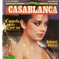 Cine: PAPELES DE CINE. CASABLANCA. FASCÍCULO Nº 34. CINE ESPAÑOL 2. OCTUBRE 1983 (ST/MG/B). Lote 243015410