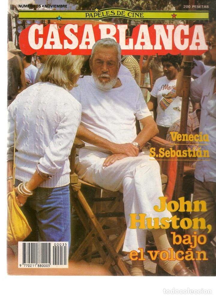 PAPELES DE CINE. CASABLANCA. FASCÍCULO Nº 35. JOHN HUSTON. VENECIA - SAN SEBASTIÁN. 1983 (ST/MG/B) (Cine - Revistas - Papeles de cine)