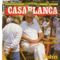 Cine: PAPELES DE CINE. CASABLANCA. FASCÍCULO Nº 35. JOHN HUSTON. VENECIA - SAN SEBASTIÁN. 1983 (ST/MG/B). Lote 243015780