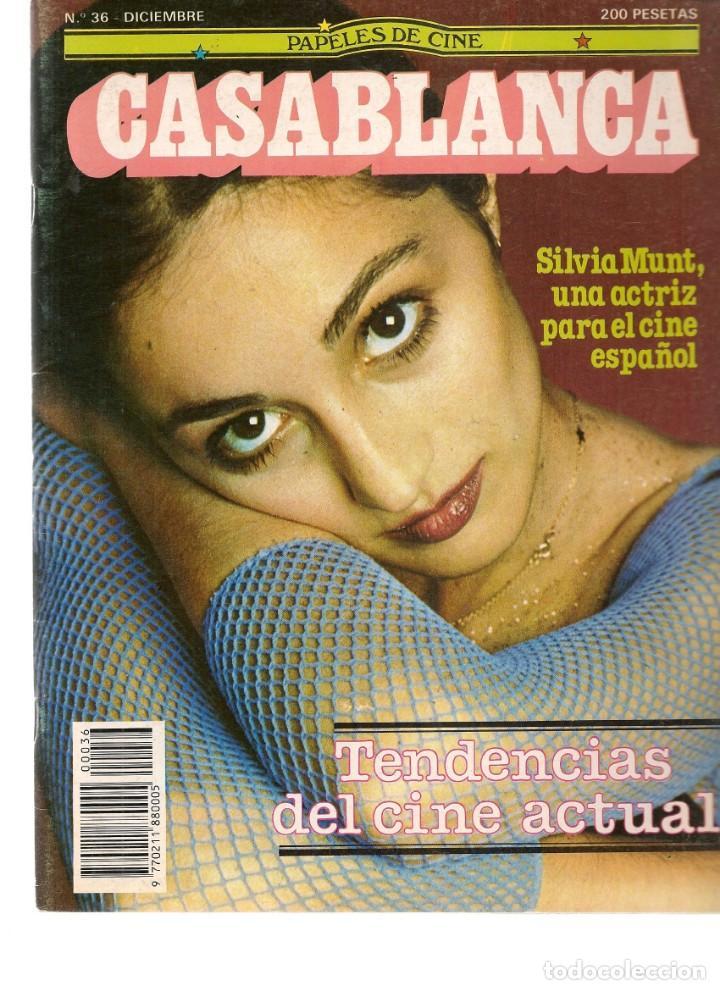 PAPELES DE CINE. CASABLANCA. FASCÍCULO Nº 36. SILVIA MUNT. DICIEMBRE 1983 (ST/MG/B) (Cine - Revistas - Papeles de cine)