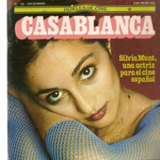 Cine: PAPELES DE CINE. CASABLANCA. FASCÍCULO Nº 36. SILVIA MUNT. DICIEMBRE 1983 (ST/MG/B). Lote 243016175