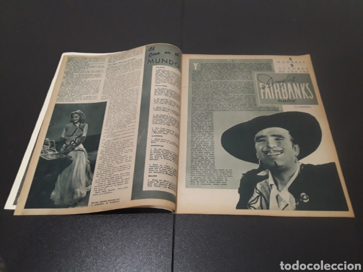 Cine: N° 314. AÑO 1946. JEAN ROGER, MARILYN MAXWELL, DOUGLAS FAIRBANKS, ERIC CARPENTER, AMADEO NAZZARI, VI - Foto 3 - 243019575