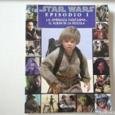 Cine: STAR WARS EPISODIO I LA AMENAZA FASTAMA. EL ÁLBUM DE LA PELÍCULA.. Lote 243047105