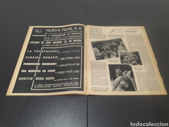 Cine: N° 190. AÑO 1944. KAG WILLIAMS, JOAN FONTAINE, CONCHITA MONTES, LLOBET GARCIA, CONCHITA MONTENEGRO, - Foto 3 - 243119500