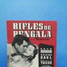 Cine: RIFLES DE BENGALA FOLLETO DOBLE XINE MAJESTIC TÀRREGA. Lote 243506890