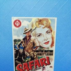 Cine: SAFARI I FOLLETO CINE MAJESTIC TÀRREGA. Lote 243507190