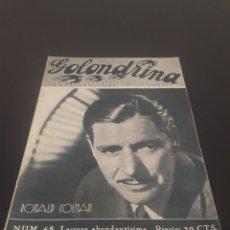 Cine: RONALD COLMAN. LA GOLONDRINA. N° 65. 07/11/1936.. Lote 243603310