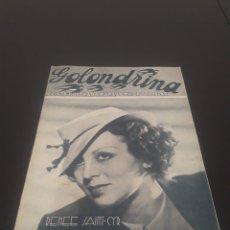 Cine: RENEE SAINT-CYR. LA GOLONDRINA. N° 68. 28/11/1936.. Lote 243603695