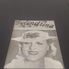 Cine: PATRICIA ELLYS. LA GOLONDRINA. N° 74. 09/01/1937.. Lote 243604925