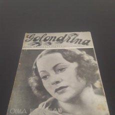 Cine: OLIVIA DE HAVILLAND. LA GOLONDRINA. N° 76. 23/01/1937.. Lote 243605335