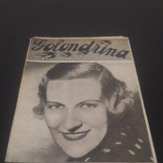 Cine: VERREE TEASDALE. LA GOLONDRINA. N° 82. 06/03/1937.. Lote 243606020
