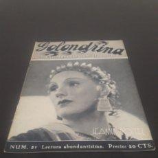Cine: JEANNE BOITEL. LA GOLONDRINA. N° 21. 31/03/1936.. Lote 243606910