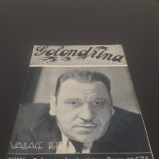 Cine: VALLACE BEERY. LA GOLONDRINA. N° 25. 14/04/1936.. Lote 243607140