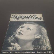 Cine: LILIAN HARVEY. LA GOLONDRINA. N° 27. 21/04/1936.. Lote 243607225