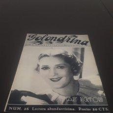 Cine: MARY PICKFORD. LA GOLONDRINA. N° 26. 18/04/1936.. Lote 243607340