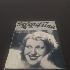 Cine: JANET MAC DONAL. LA GOLONDRINA. N° 28. 25/04/1936.. Lote 243607490