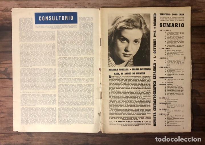 Cine: REVISTA CAMARA, NUMERO 66, OCTUBRE DE 1945, ( TALLERES RIVADENEYRA ) - Foto 2 - 243102730
