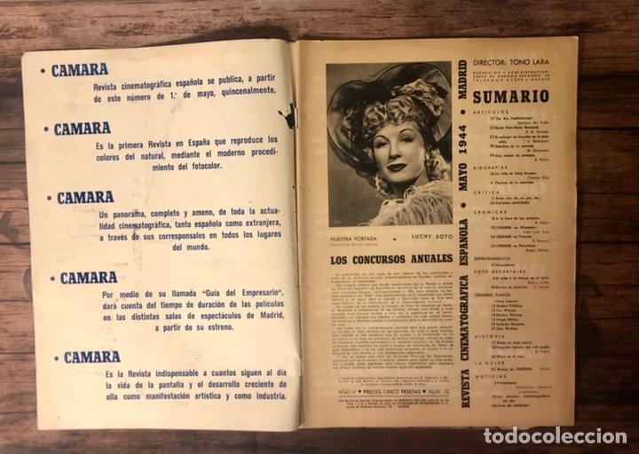 Cine: REVISTA CAMARA, NUMERO 32, MAYO DE 1944, ( TALLERES RIVADENEYRA ) - Foto 2 - 243102790