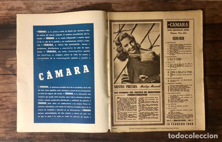 Cine: REVISTA CAMARA, NUMERO 75, FEBRERO DE 1946, ( TALLERES RIVADENEYRA ) - Foto 2 - 243102825