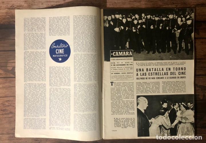 Cine: REVISTA CAMARA, NUMERO 93, NOVIEMBRE DE 1946, ( TALLERES RIVADENEYRA ) - Foto 2 - 243102855
