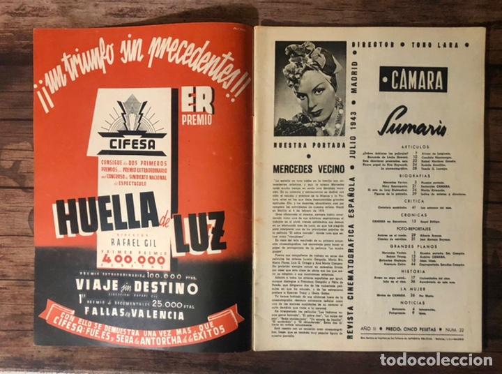 Cine: REVISTA CAMARA, NUMERO 22, JULIO DE 1943, ( TALLERES RIVADENEYRA ) - Foto 2 - 243102955