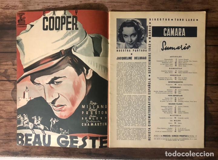 Cine: REVISTA CAMARA, NUMERO 12, SEPTIEMBRE DE 1942, ( TALLERES RIVADENEYRA ) - Foto 2 - 243103000
