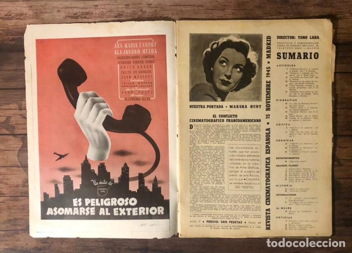 Cine: REVISTA CAMARA, NUMERO 69, NOVIEMBRE DE 1945, ( TALLERES RIVADENEYRA ) - Foto 2 - 243103100