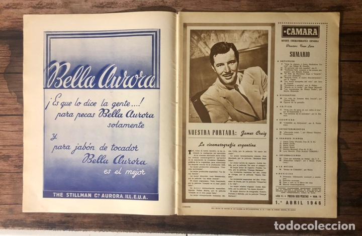 Cine: REVISTA CAMARA, NUMERO 78, ABRIL DE 1946, ( TALLERES RIVADENEYRA ) - Foto 2 - 243103270