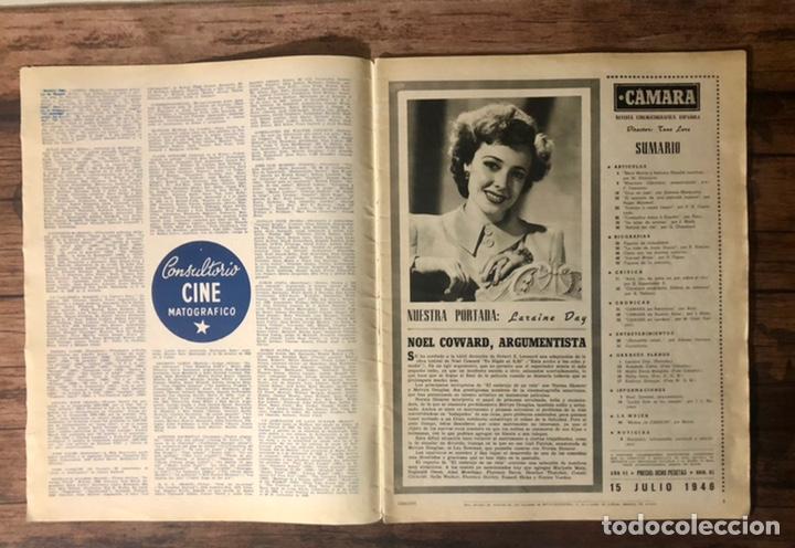 Cine: REVISTA CAMARA, NUMERO 85, JULIO DE 1946, ( TALLERES RIVADENEYRA ) - Foto 2 - 243103550