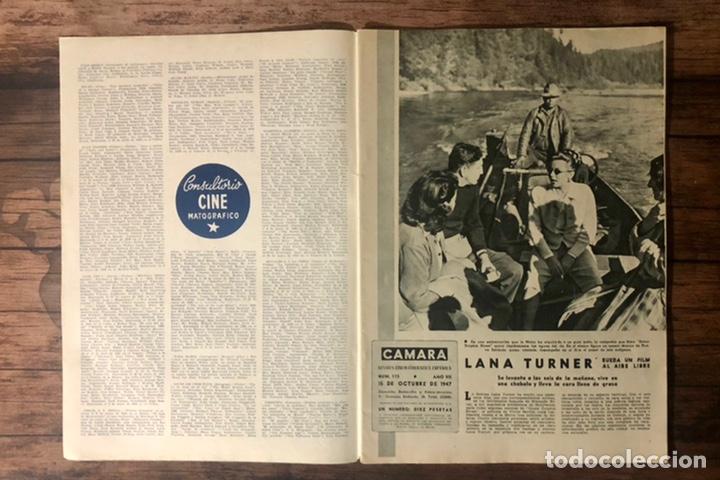 Cine: REVISTA CAMARA, NUMERO 115, OCTUBRE DE 1947, ( TALLERES RIVADENEYRA ) - Foto 2 - 243103600