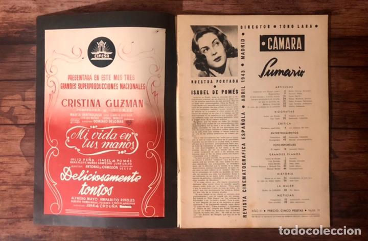 Cine: REVISTA CAMARA, NUMERO 19, ABRIL DE 1943, ( TALLERES RIVADENEYRA ) - Foto 2 - 243103610